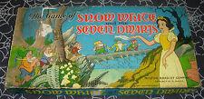 WALT DISNEY'S  SNOW WHITE AND THE SEVEN DWARFS  BOARD GAME  1937  MILTON BRADLEY
