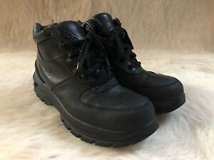 various colors 71858 f3f60 Image is loading NIKE-ACG-BOOTS-AIR-MAX-GOADOME-BLACK-LEATHER-