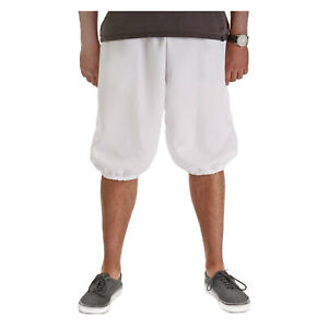 USA Made Mens White Medieval Gothic Pirate Clown Halloween Costume Knicker Pants