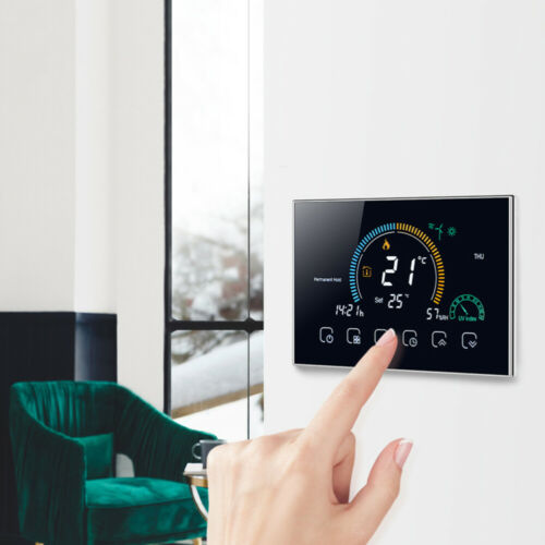 1 Set Smart Touchscreen Thermostat Home Energy Save Intelligent Thermoregulator