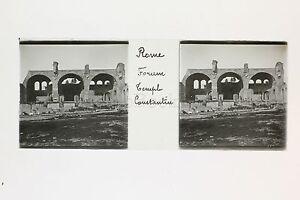 Rome Forum Italie Italia Plaque De Verre Stéréo Positive Ca 1905