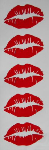 Glasses Kiss Lips Stickers 5 15 30 60 Ideal for Baubles Crafts Etc.
