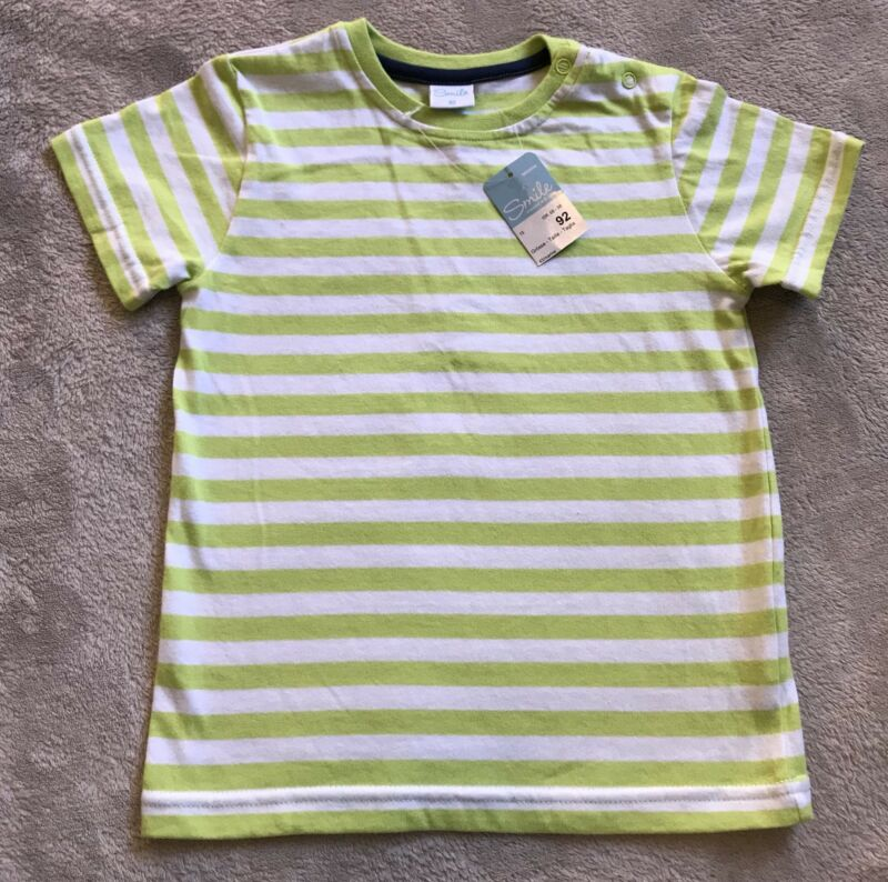 Smile Size 2-3 Green Stripe Tshirt *bnwt*. Combined Post