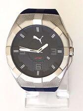 Puma caballero reloj iconic azul lila plata silicona fecha pu103921002