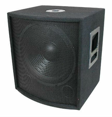 """600 Watt 12"""" DJ PA Subwoofers with Cabinets and Crossovers, NEW!"""