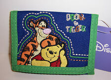 Disney WINNIE the POOH & TIGGER TRI-FOLD WALLET Embroidered Purse Card Case NEW!