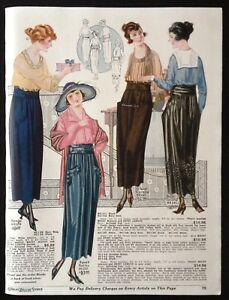 1920-FASHION-AD-PAGE-CHARLES-WILLIAM-STORES-NYC-WOMEN-039-S-SKIRTS