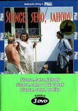 Slunce Seno Jahody + Slunce Seno Erotika + Slunce Seno a Par Facek 3 x DVD Set