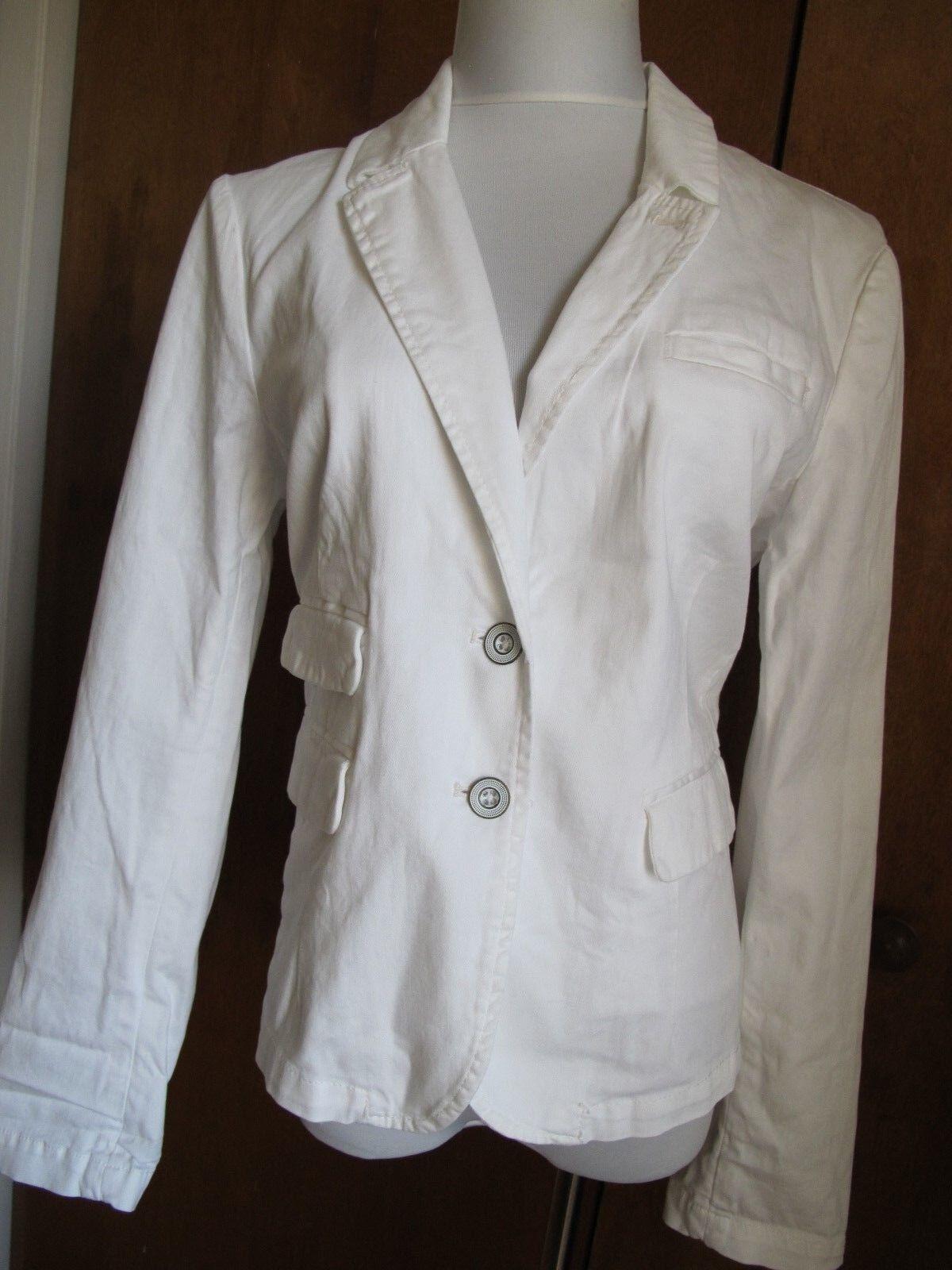 Anthropologie HEI women's white blazer size Large NWT
