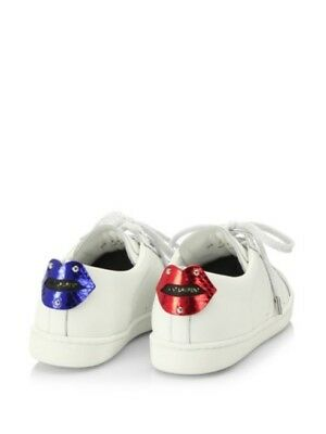 Lips Leather Sneaker Shoes White