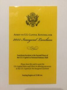 2013-President-Barack-Obama-Inauguration-Inaugural-Luncheon-VIP-Card-Ticket-Pass