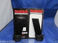 Two Ruger Magazine Mag Lc9 9mm 9 Rd Blued With Extension Lc-9 Clip Lc9s 90404