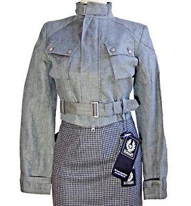 Nwt EU 40 Black taille remontoirs Authentique rares de veste lin Belstaff 100 Label Rxwx4gqf6