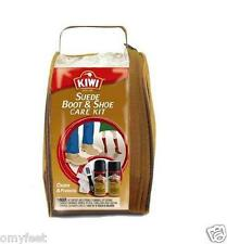 Kiwi Suede & Nubuck Boot Shoe Care Kit Cleaner and Protector 20700 Zipper Pouch