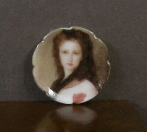PORCELAIN  CHINA  DISPLAY  PLATE ~ Dollhouse ~ England ~ Marked ~ 1:12 scale