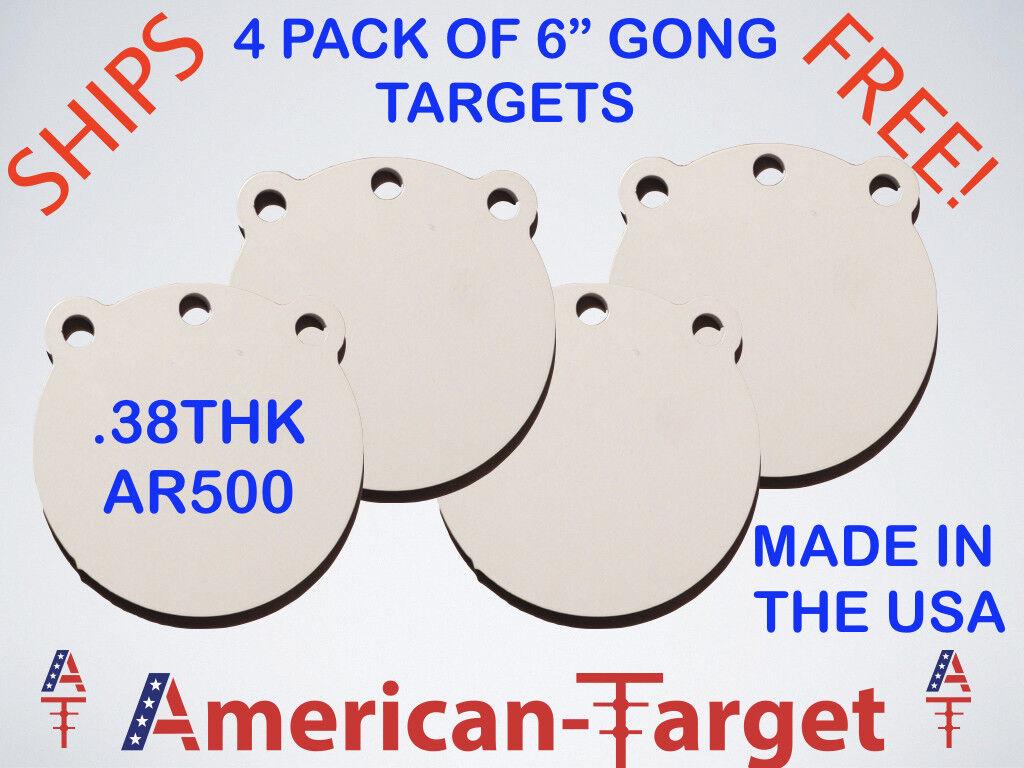American-Target AR500 - 3 8 pulgadas 6 pulgadas ronda de destino de acero Diana