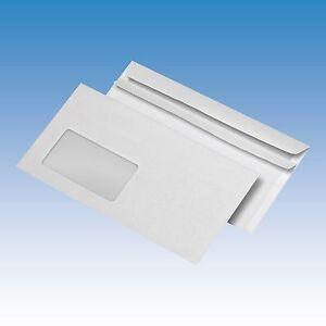 1000-Stueck-Briefumschlag-DIN-lang-110-x-220-mm-mit-Fenster-selbstklebend