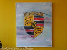 XXL Porsche Wappen 911 993 997 Ölbild Leinwand Bild 80 x 100 cm ORIGINAL!
