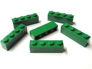 green green 6 x 3010 lego brick new new brick 1x4