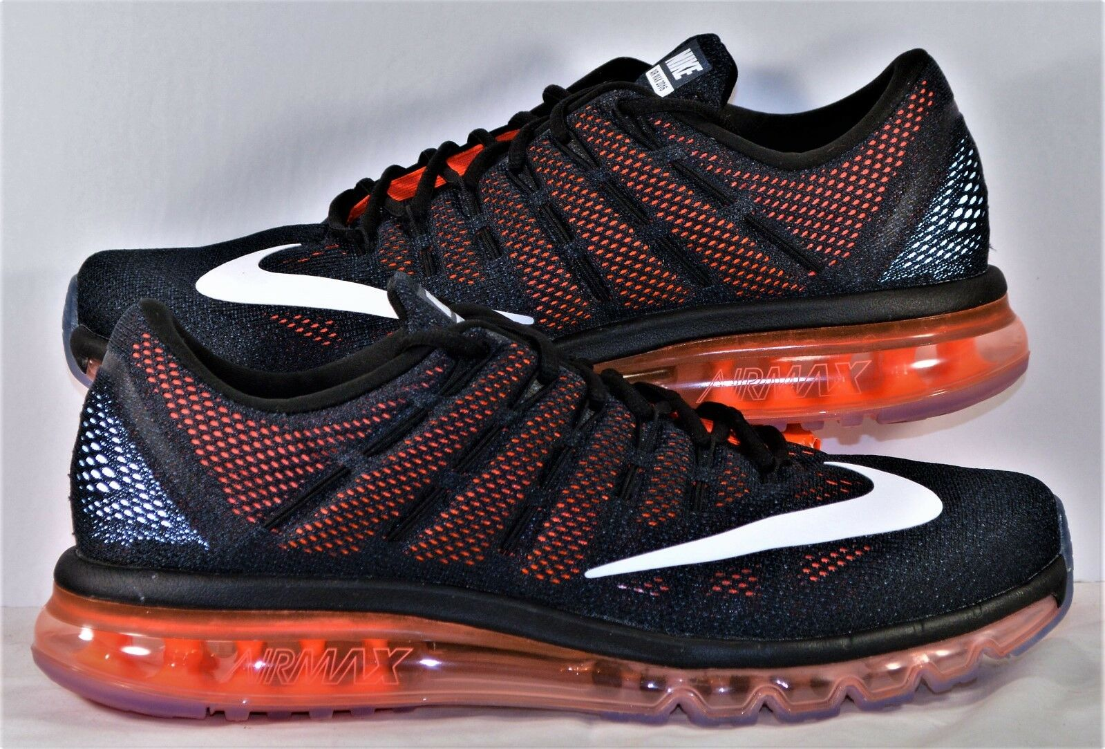 Nike Air Max 2016 Black & Shoes White & Crimson Running Shoes & Sz 14 NEW 806771 008 52f36c