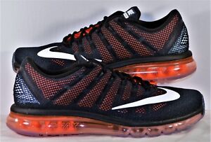 Nike Air Max 2016 Black   White   Crimson Running Shoes Sz 14 NEW ... 4509071d2