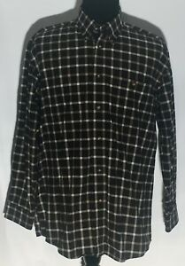 48838c69bd5 Orvis Black White Checkered 100% Cotton Long Sleeve Button-Front ...