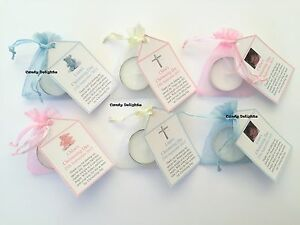 20-Christening-Day-DIY-Organza-bag-Candle-Personalised-Tag-Favours-with-photo