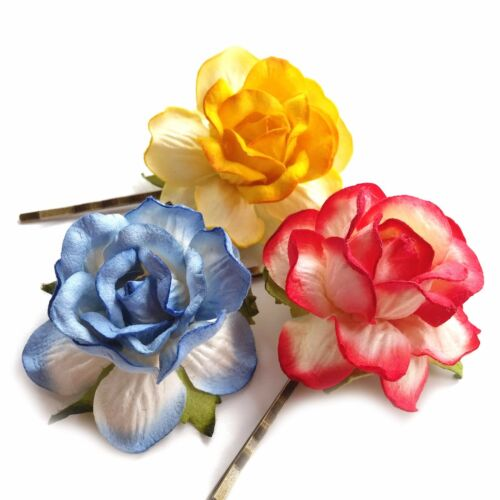 RUSTIC ROSE Hair Clip Vintage Boho Grip Wedding Festival Dance Prom Party