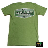 Drake Waterfowl Systems Vintage Logo S/s T-shirt Green Heather Medium