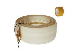 Fußboden Kabelkanal Weiß ~ Fussboden kabelkanal flexibel m selbstklebend beige weiss ebay