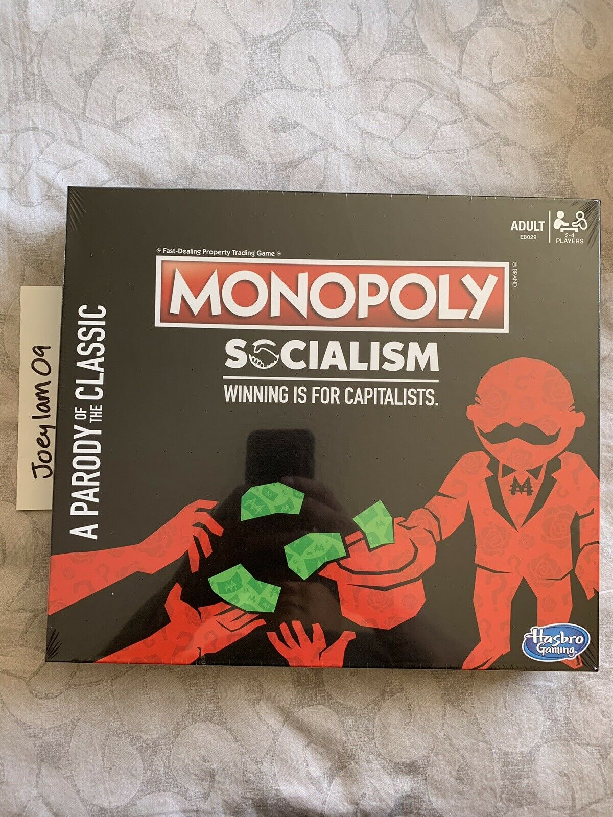 Monopoly Socialism Winning Is For Capitalists A Parody Of The Classic In Hand