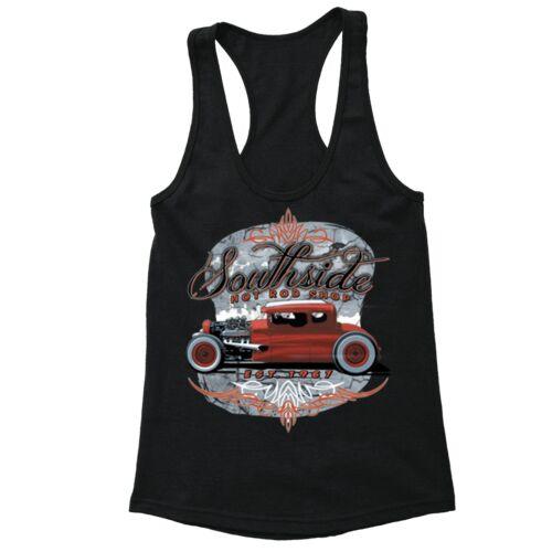 South Side Hot Rod Shop Racerback Classic Car Garage Engine Motorcycle Motor