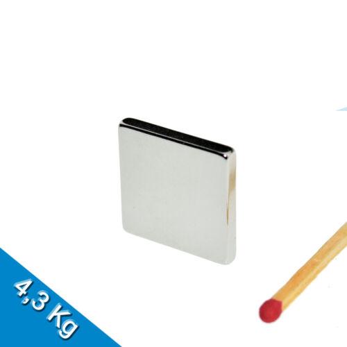 Nickel 5 NEODYM MAGNETE  20 x 20 x 3mm NdFeB N45 Quadermagnet