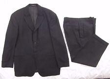 Hugo Boss Dark Gray Wool Suit 46R Pants 37 X 29 Four Button Sokrates Sigma USA