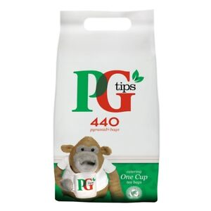 PG Tips Tea Bags One Cup 440's From £7.91 - Bulk Multi Pack Discount Offer !