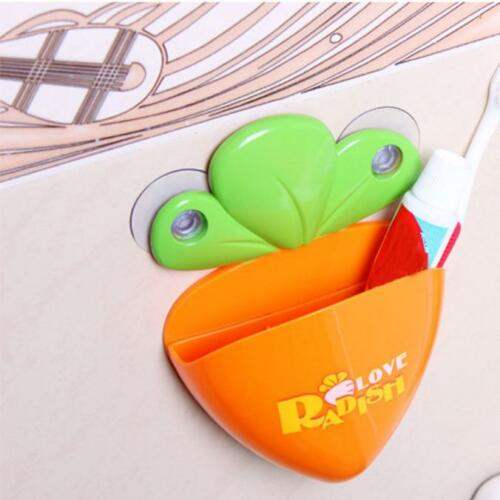 Various Animal Home Toothbrush Toothpaste Holder Case with Wall Mounted Suction