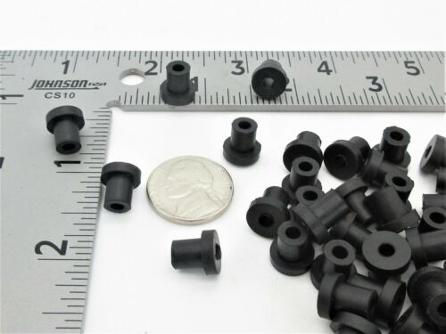 "1//8"" Thick Flange 1//2"" OD Push-In 1//4"" X 3//16/"" ID Small Rubber Bushings"