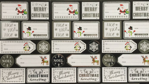 CHRISTMAS XMAS FESTIVE STICKERS SANTA TREE SNOWMAN TOYS ARTS CRAFTS GIFT TAGS