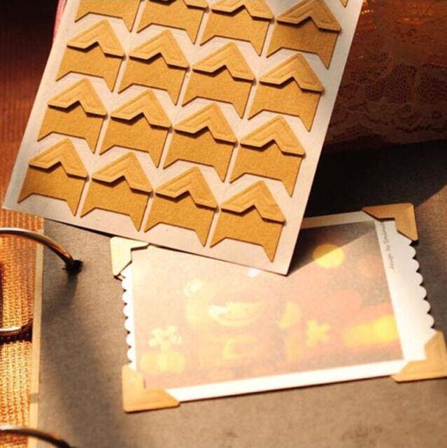 Retro 24pcs Self-adhesive Photo Frame Corner Stickers Craft DIY Scrapbook Album