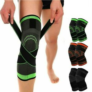 Semi-Weiche-Knie-Brace-Knie-Huelse-Unisex-Einstellbar-Nylon-Compression-Sleeve