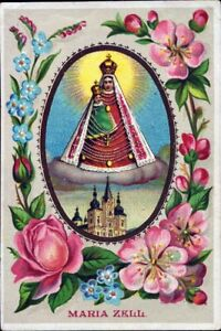 Mary-Zell-Pilgrimage-Holy-Icon-Devotional-Picture-Austria-Coloured-M-5942