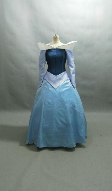 Disney Sleeping Beauty Princess Aurora Costume Blue adult SIZE 6,8,10,12,14,16