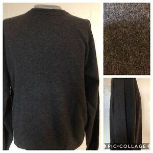 Details about Daniel Bishop Men's Dark Gray 100% 2 Ply Cashmere Sweater Pullover XL