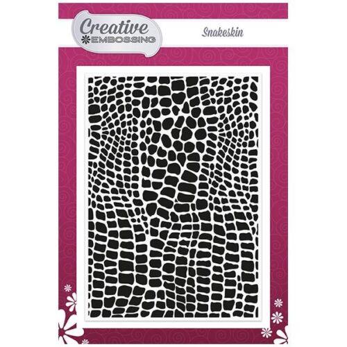 Creative muere textura 5in X 7in Piel De Serpiente Carpeta de grabación en relieve