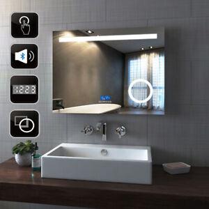 Led Bathroom Mirror Bluetooth Speaker Make Up Touch Sensor