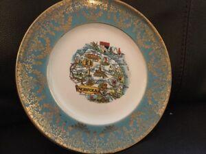 Liverpool-Road-Pottery-Ltd-Gilded-Norfolk-Plate-22cm-Diameter