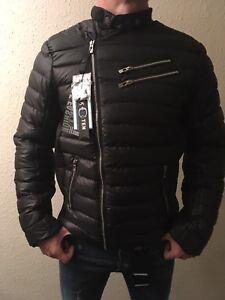 38522bae9df5 Image is loading New-Double-Zipper-Winter-Jacket-Size-XL