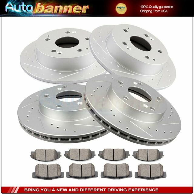 For Acura RSX 2002-2006 Drilled Front And Rear Discs Brake