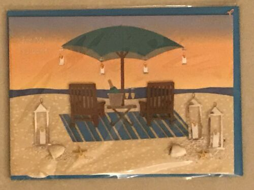 New in packaging Father/'s Day Beach Sand Relax Chair greeting card Papyrus