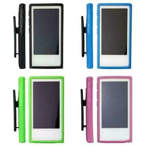 Soft-Rubber-Gel-Case-Cover-Belt-Clip-Holder-For-iPod-7th-Generation-Nano-7-A9K7